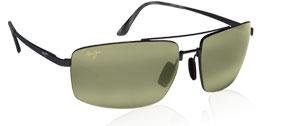 MAUI JIM Sunglasses SANDALWOOD MJ 217 02 Gloss Black/Maui HT Polarized